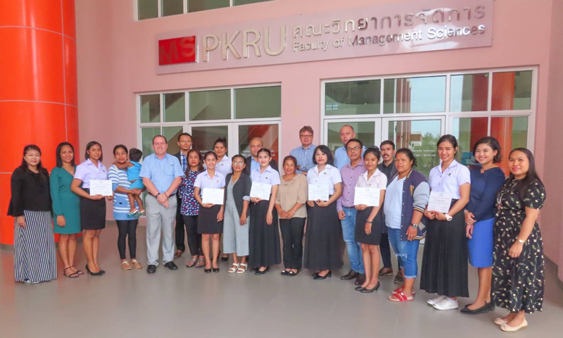 Scholarship ceremony at Phuket Rajabhat University