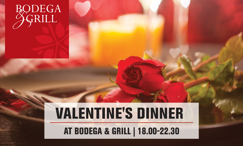 Valentine's Dinner at Bodega & Grill Restaurant