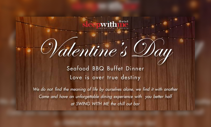 Promotion Dinner Buffet of Valentine's Day at SWING WITH ME
