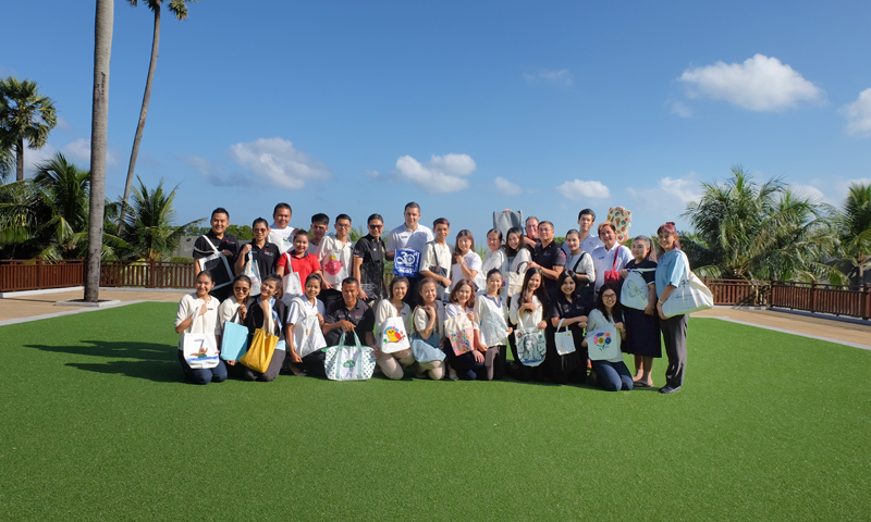 Phuket Marriott Resort and Spa, Nai Yang Beach Launch of Reusable Bag Campaign