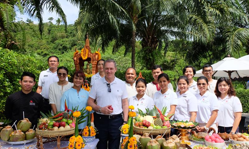 Phuket Marriott Resort and Spa, Nai Yang Beach makes merit to celebrate third anniversary