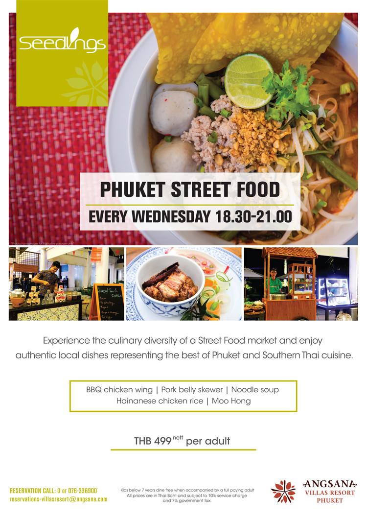 Phuket Street Food Buffet Promotion, Seedlings restaurant