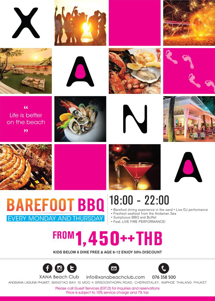 aBarefoot BBQ Promotion, XANA beach club