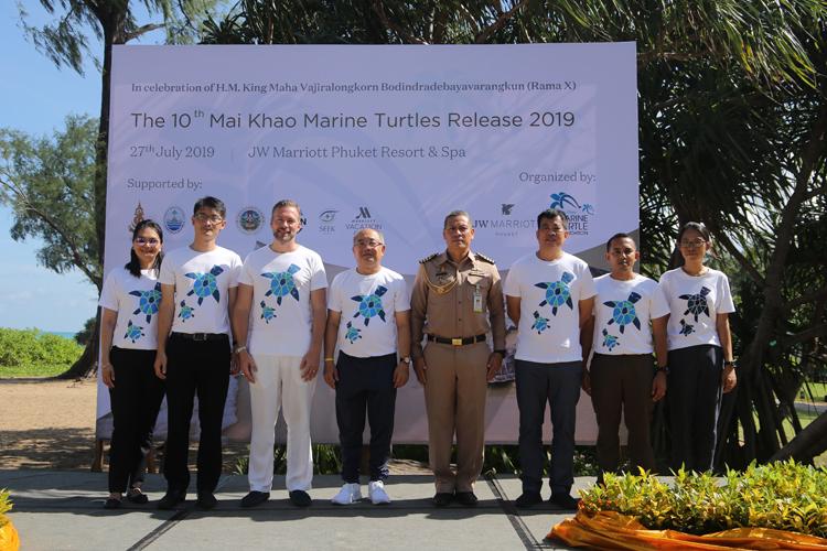 JW Marriott Phuket Resort & Spa In collaboration with  Mai Khao Marine Turtle Foundation   Released 40 Green Turtles In honour of H.M. King Maha Vajiralongkorn Bodindradebayavarangkun's Birthday