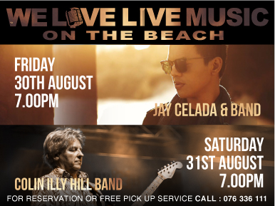 We Love Live Music On The Beach This Weekend! Hosted by M Beach Club Phuket