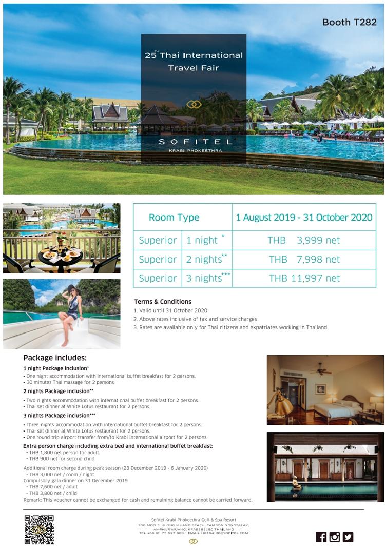 Sofitel Krabi Phokeethra Golf & Spa Resort participates in the 25th Thai International Travel Fair (TITF)