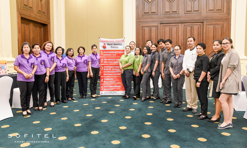 Blood Donation at Sofitel Krabi Phokeethra Golf and Spa Resort