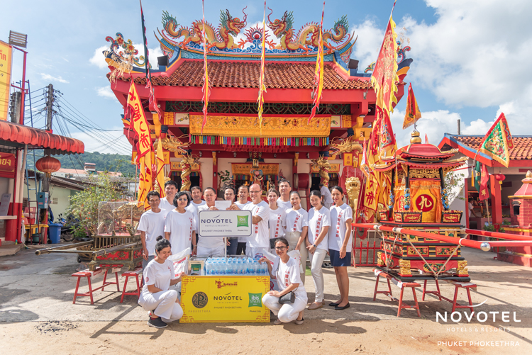 The teams at Novotel Phuket Phokeethra and ibis Styles Phuket City donated to shrines across Phuket as part of the annual Vegetarian Festival