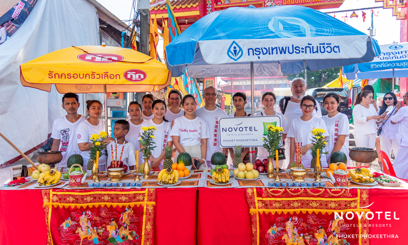As part of the celebrations for Phuket Vegetarian Festival, Novotel Phuket Phokeethra and ibis