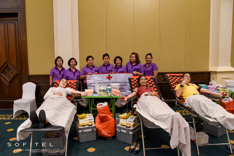Blood Donation at Sofitel Krabi Phokeethra Golf & Spa Resort