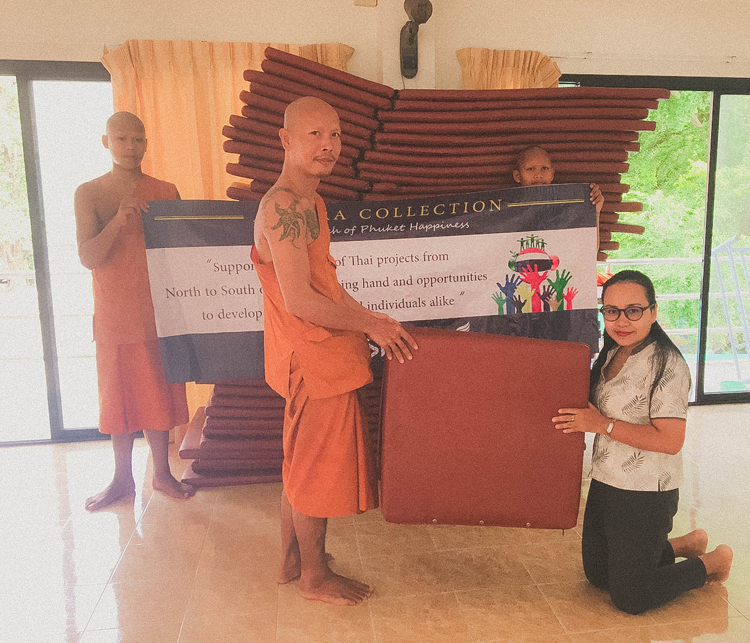 AKSARA Collection donated the old stuff at Kata Temple and Ban Lung Pitak foudation