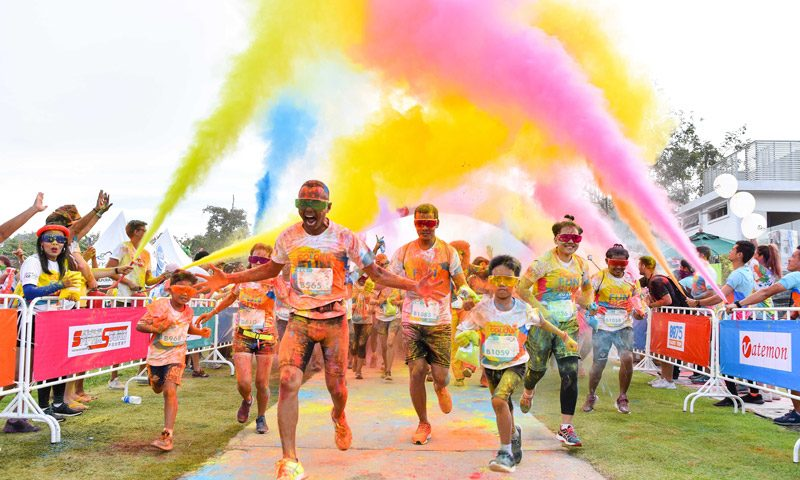 Phuket Marriott Resort & Spa, Nai Yang Beach Sponsors Thanyapura's Color Fun Run 2019