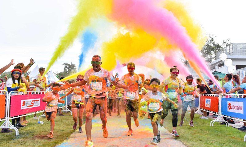 Phuket Marriott Resort & Spa, Nai Yang Beach Sponsors Thanyapura's Color Fun Run 2019