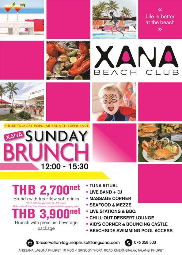 XANA Sunday Brunch at Angsana Laguna Phuket