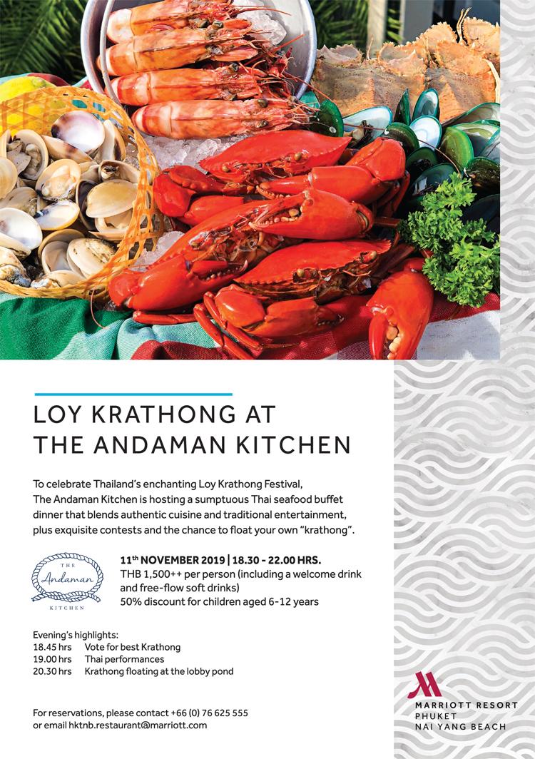Loy Krathong at The Andaman Kitchen