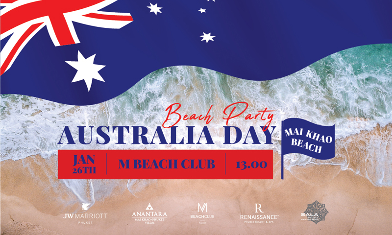 Destination Mai Khao Beach to host Phuket's Biggest Australia Day Party