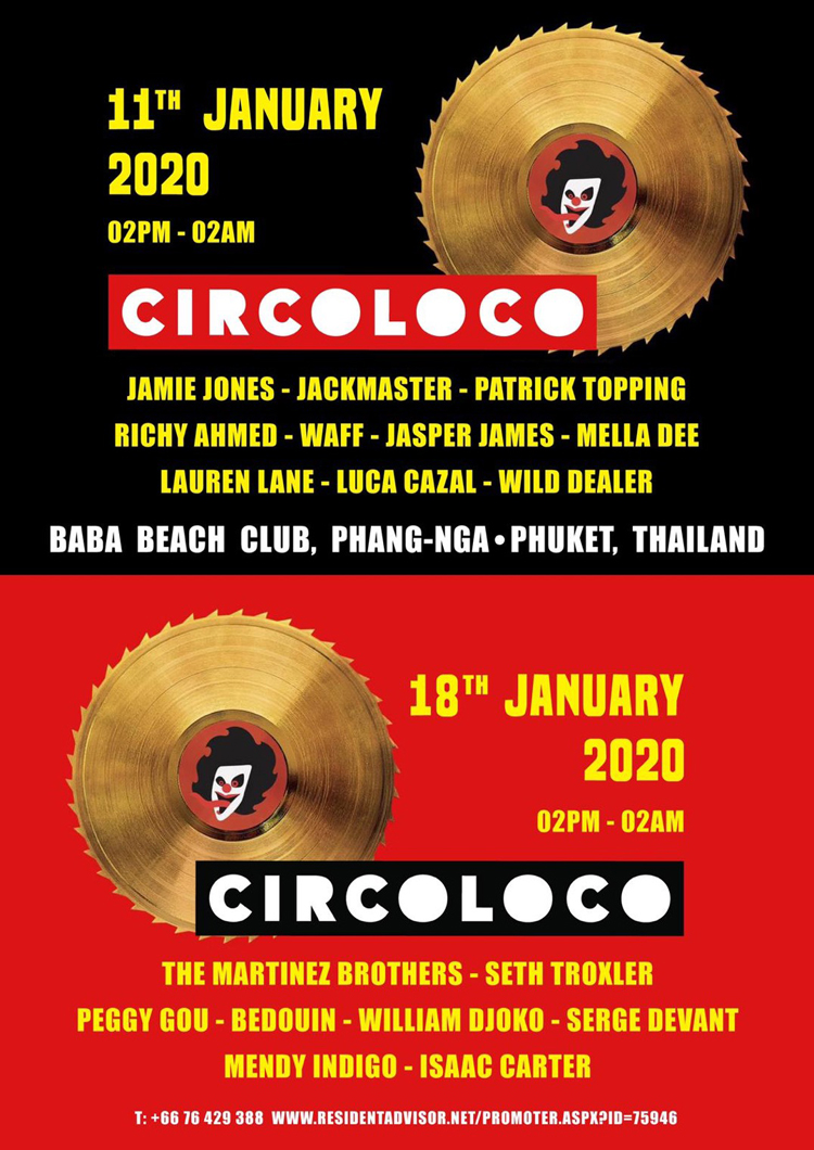 Circoloco returns to Southeast Asia for two blockbuster events at Baba Beach Club