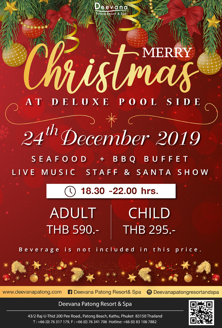 Christmas Eve Night Party 2019, Deevana Patong Resort & Spa