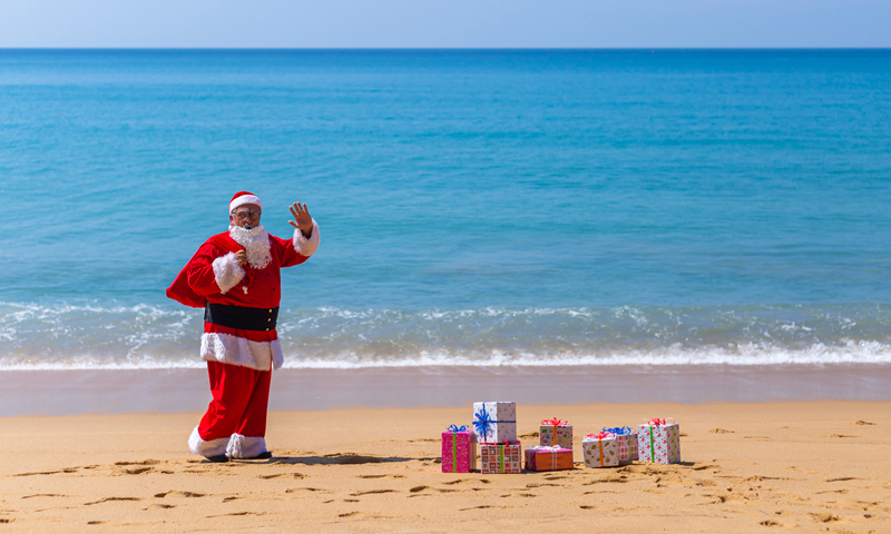 Santa Claus and his elves drop in at JW Marriott Phuket Resort & Spa