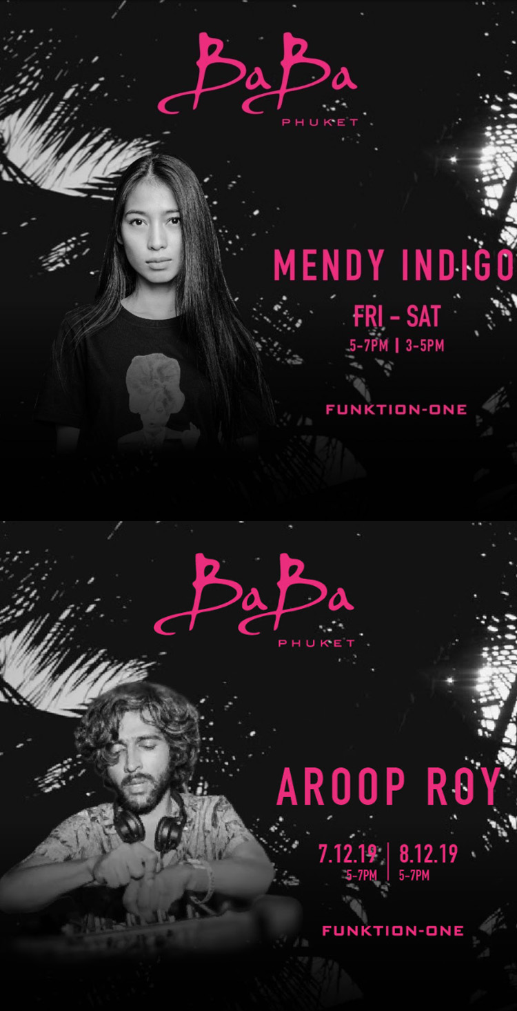 Baba Beach Club Phuket presents Mendy Indigo & Aroop Roy