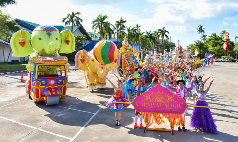 Phuket FantaSea presented the world's longest  parade float in Kamala Carnival 2020