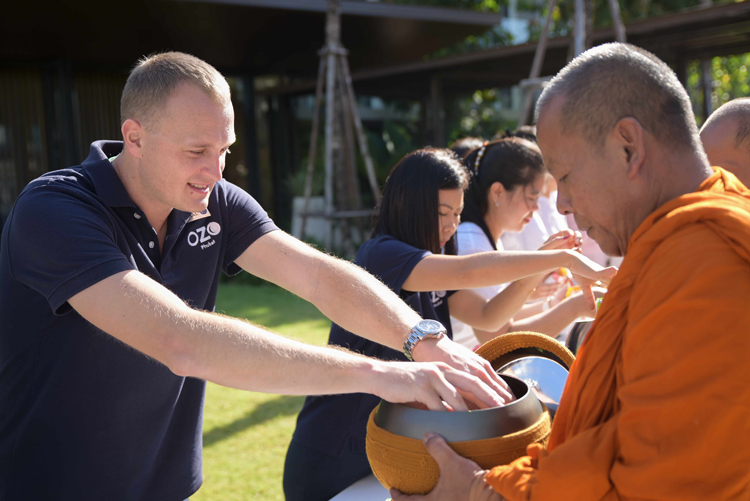 OZO Phuket welcomes the New Year with traditional food offering ceremony