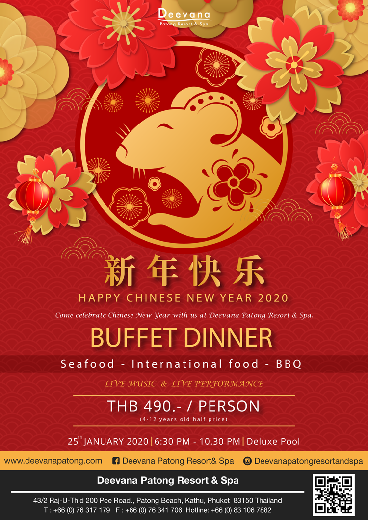 Chinese New Year Celebration 2020, Deevana Patong Resort & Spa