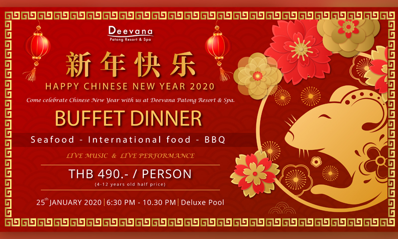 Chinese New Year Celebration 2020, Deevana Patong Resort & Spa