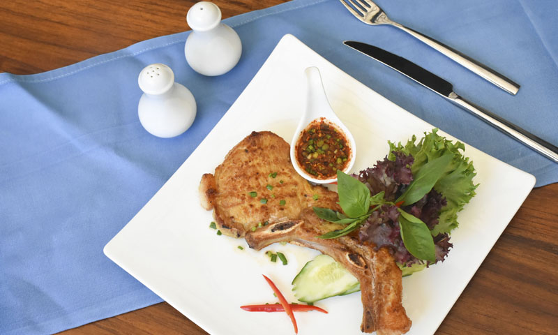 "Monthly Special Menu: ""Grilled Pork Sparerib with Thai Spicy Sauce"" , Deevana Patong Resort & Spa"