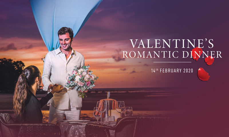 Valentine's dinner at Phuket Marriott Resort and Spa, Nai Yang Beach