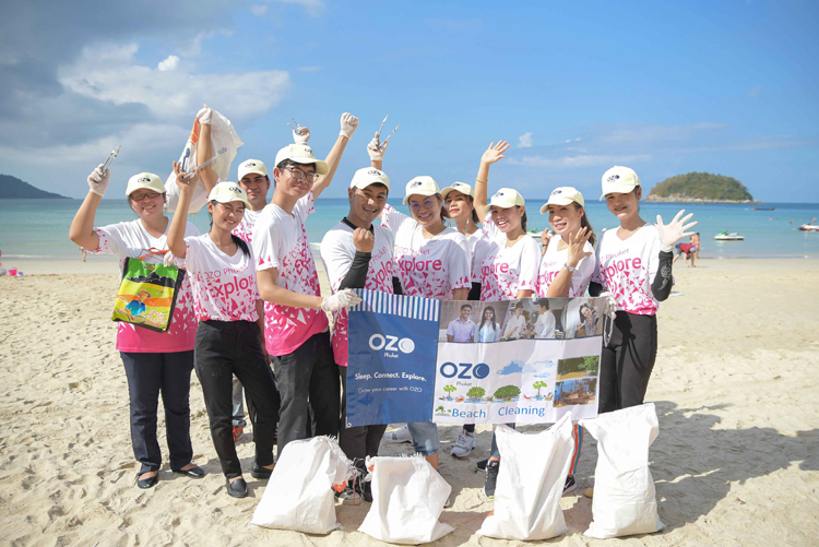 OZO Phuket team members participated in the Big Cleaning Day community event at Kata Beach
