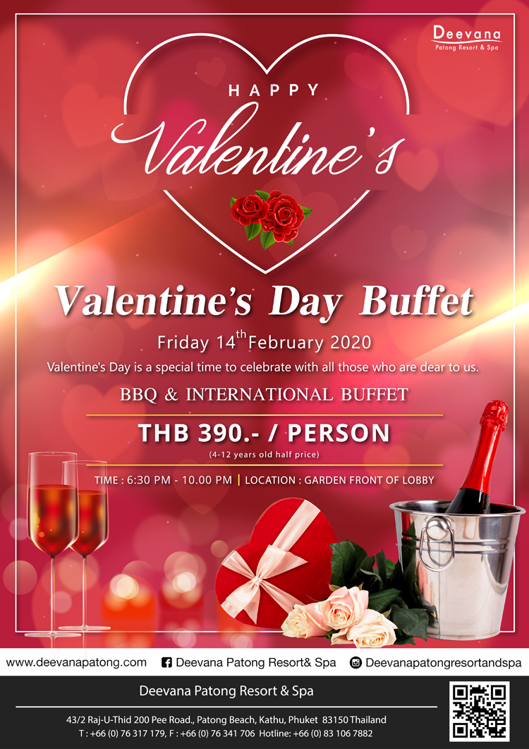 Valentine's Day celebration at Deevana Patong Resort & Spa