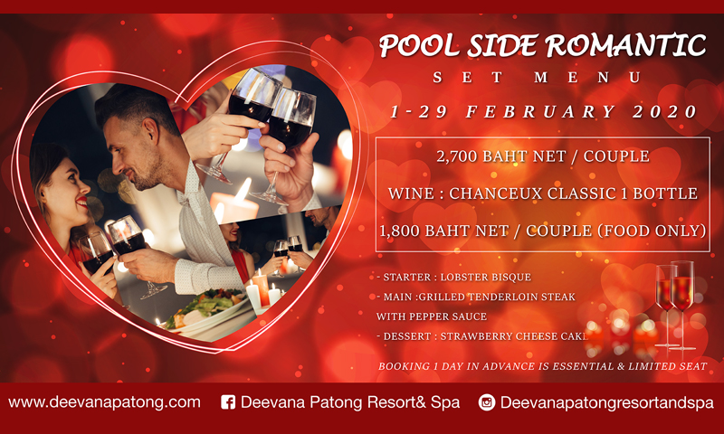 Pool side romantic dinner, Deevana Patong Resort & Spa
