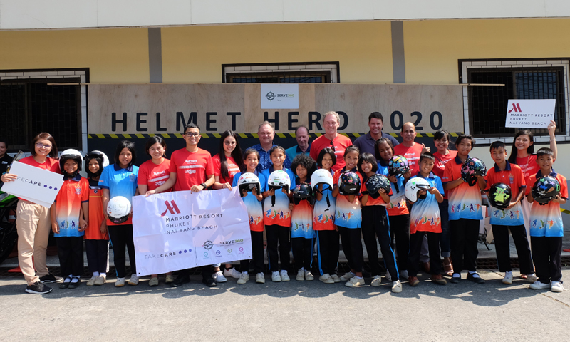 Marriott Hotels in Phuket and Khao Lak Host First Helmet Painting in Khao Lak
