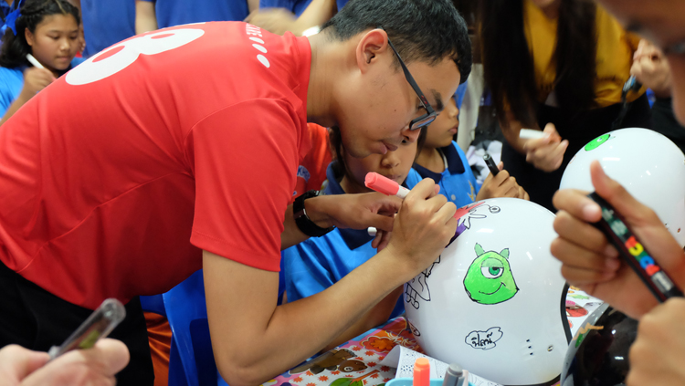 Marriott Hotels in Phuket and Khao Lak Host First Helmet Painting in Khao Lak to Raise Awareness of Road Safety