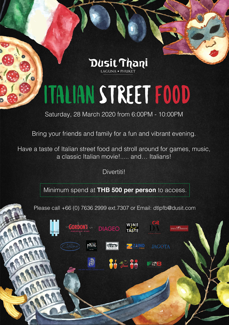 Dusit Thani Laguna Phuket 'Italian Street Food'