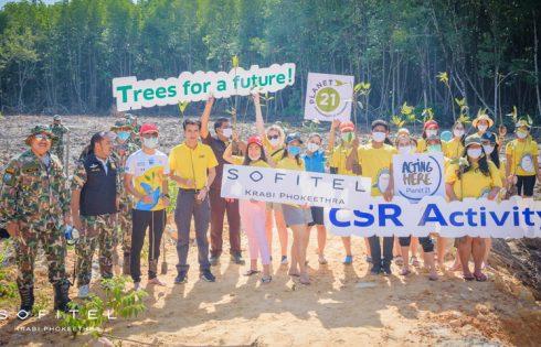 Mangrove Planting By the Sofitel Krabi Phokeethra Golf & Spa Resort Team
