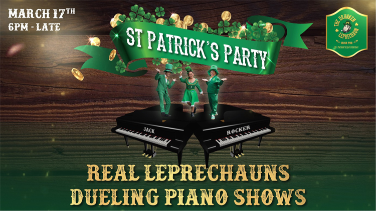 Celebrate St. Patrick's Day at the Drunken Leprechaun located in the heart of Patong on March 17th.