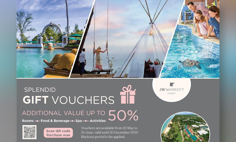 Splendid gift vouchers from JW Marriott Phuket Resort & Spa