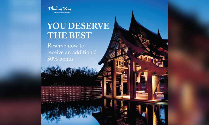 Escape to Phulay Bay, a Ritz-Carlton Reserve and experience a journey of a lifetime