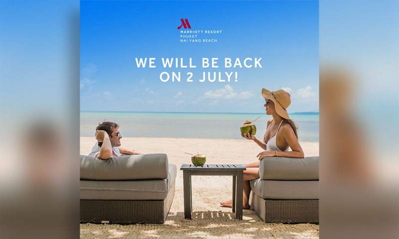 Phuket Marriott Resort and Spa, Nai Yang Beach will be back on 2 July 2020