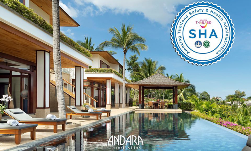 Andara Resort and Villas are now awarded SHA Certification