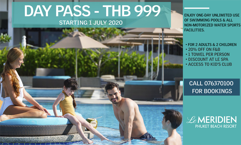 Day Pass – thb 999, Le Meridien Phuket Beach Resort