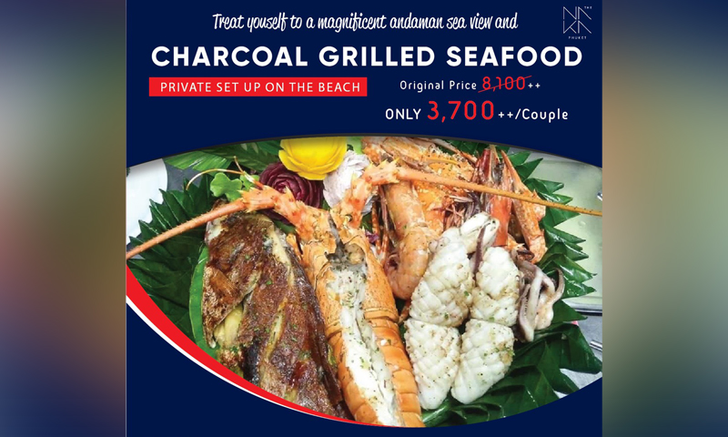 Charcoal grilled seafood, The NAKA Phuket