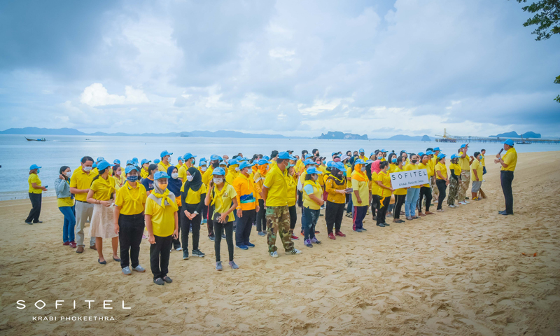 Sofitel Krabi Phokeethra Golf & Spa Resort joins in to Clean up the Beach