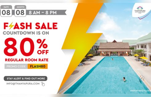Buy Now, Stay later with Thanyapura's one day flash sale 80% off hotel rates