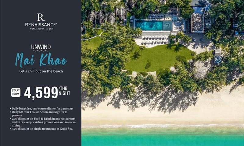 Revel in relaxation at Renaissance Phuket Resort & Spa