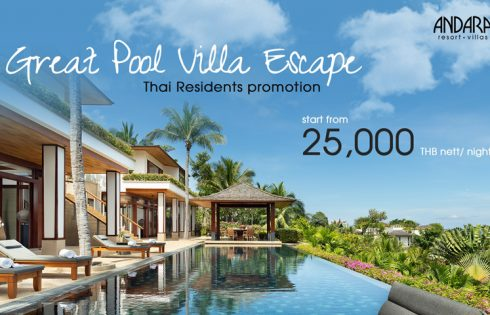 Great Pool Villa Escape for Thai Residents @Andara Resort & Villas
