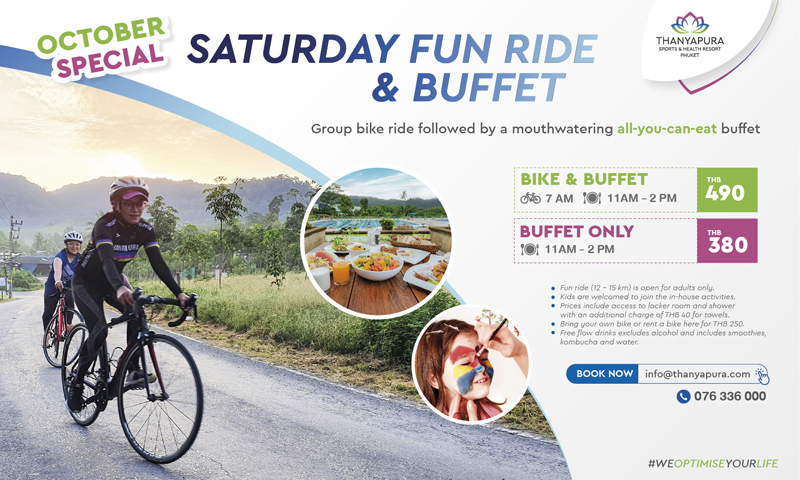Saturday Fun Ride & Buffet at Thanyapura Phuket