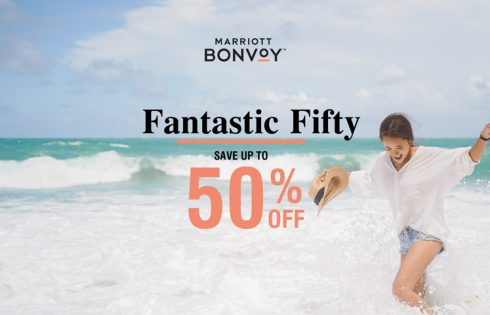 Fantastic Fifty! Enjoy 50% off with Marriott International in Thailand